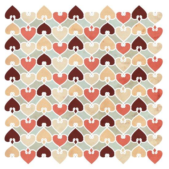 Heart knit pattern Art Print