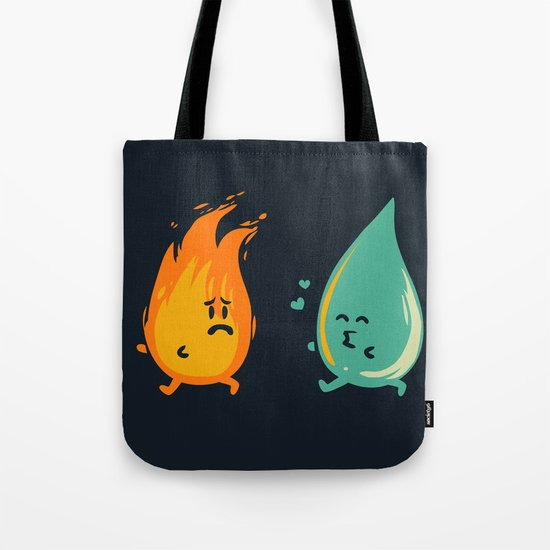 Impossible Love (fire and water kiss) Tote Bag