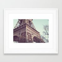 Daydreams At The Eiffel Framed Art Print