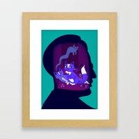 schrodinger's cat Framed Art Print