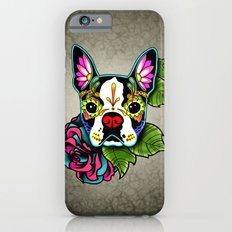 Day of the Dead Boston Terrier Sugar Skull Dog iPhone 6 Slim Case