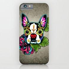 Day of the Dead Boston Terrier Sugar Skull Dog Slim Case iPhone 6s