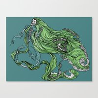 Death of a Siren Canvas Print