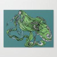 Death Of A Siren Canvas Print