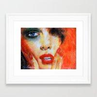 Title: Pastel Portrait - Orange Passion Framed Art Print