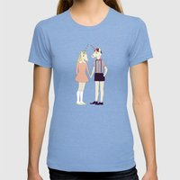 Our love is unique, we are Unicorns Womens Fitted Tee Tri-Blue SMALL