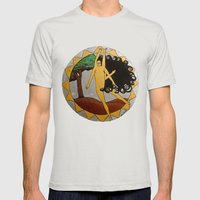 Kali Dancing Mens Fitted Tee Silver SMALL
