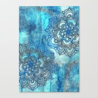 Lost In Blue - A Daydrea… Canvas Print