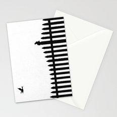 Bird on a fence Stationery Cards