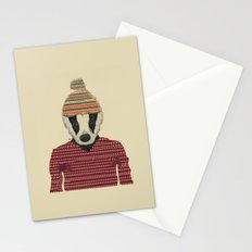 seb the badger  Stationery Cards