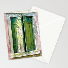 Old green window Stationery Cards