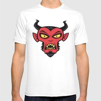 Mad Devil Mens Fitted Tee White SMALL