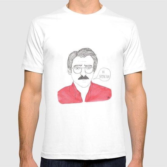 Joaquin Travel Towel: Her - Joaquin Phoenix T-shirt By Florent Manelli