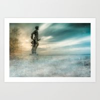 Dreams about sea Art Print
