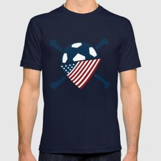AO Mens Fitted Tee Navy SMALL
