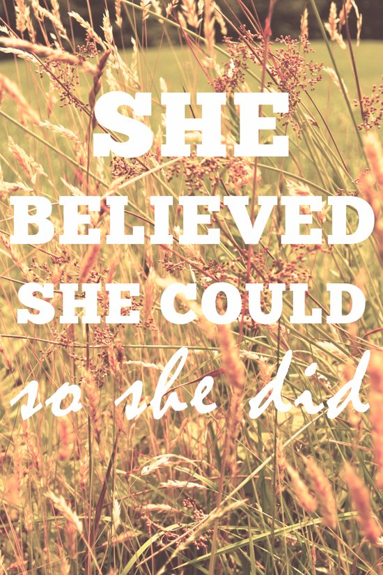 She Believed She Could  Canvas Print