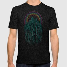 Neon City Mens Fitted Tee Tri-Black SMALL