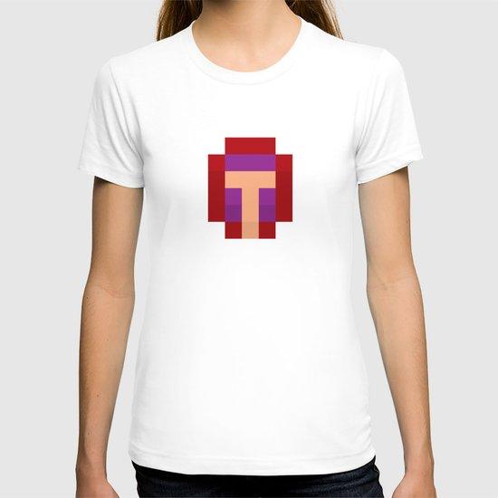 hero pixel purple red T-shirt