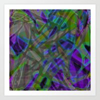 Colorful Abstract Stained Glass G301 Art Print