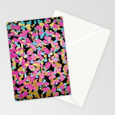 Pink, Blue, & Gold Faux Sparkly Paint Splatter Stationery Cards