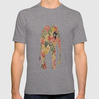 Flower Power Elephant Mens Fitted Tee Tri-Grey SMALL