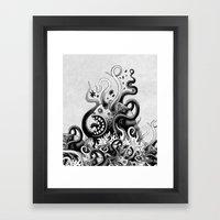 Dark Octoworm Framed Art Print
