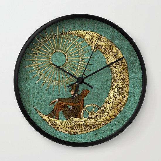 Moon Travel Wall Clock