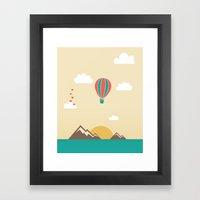 Love Balloon Framed Art Print