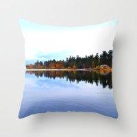 Northwest lake Throw Pillow