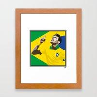 Neymar Brasil 2 Framed Art Print