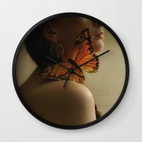 butterfly kisses~ Wall Clock