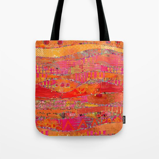 Firewalk Abstract Art Collage Tote Bag