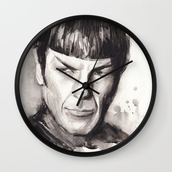 Spock Star Trek Wall Clock