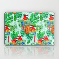 Pineapples and Parrots Tropical Summer Pattern Laptop & iPad Skin