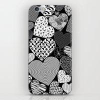 Love Hearts Doodle Art P… iPhone & iPod Skin