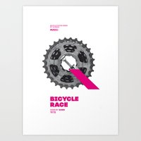 Bike to Life - BicycleRace Art Print