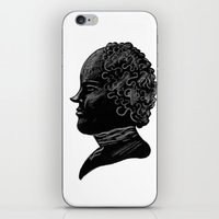 Silhouette of a Gentleman iPhone & iPod Skin
