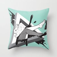 Lady Bunny Throw Pillow