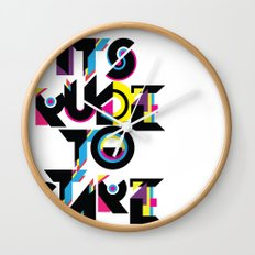 It's Rude To Stare Wall Clock