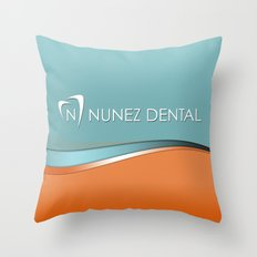 Nunez Dental Logo Throw Pillow