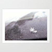 perfect snowflakes Art Print