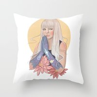 She Prayed for Infinity Throw Pillow