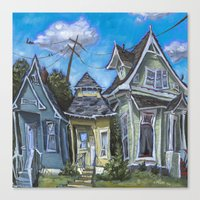 Three Houses Canvas Print