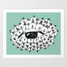 Sacred eye: the flower Art Print