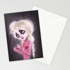 lost forever in a dark space Stationery Cards