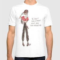 Man Repeller Mens Fitted Tee White SMALL