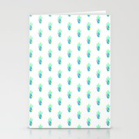 Cactus - White Stationery Cards