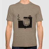 Zombie Boss Mens Fitted Tee Tri-Coffee SMALL