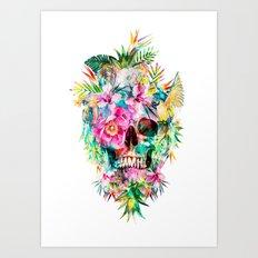 Tropical Skull Art Print