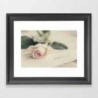 Menuett (vintage rose) Framed Art Print